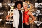 New MTV VJ Kristian Schmidt with co-star Kate Peck.