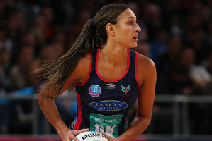 Geva Mentor of the Melbourne Vixens in action. Photo / Getty Images