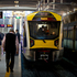 Auckland's new electric trains were launched this morning at Britomart. Photo / NZ Herald / Sarah Ivey