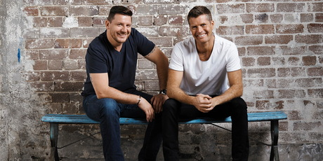 Manu Feildel and Pete Evans, hosts of the Australian My Kitchen Rules.