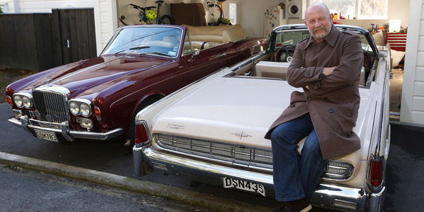 Former televison presenter Mark Sainsbury uses both cars equally. Photo / Mark Mitchel