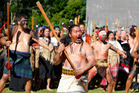 Battle of Gate Pa Ceremonies. The Maori King Tuheitia Paki is welcomed on to Gate Pa.