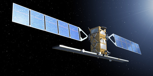 An artist rendering of a Sentinel satellite. Photo / AP