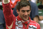 Ayrton Senna gives a thumbs up after he won the 1992 Monaco Formula One Grand Prix. Photo / AP