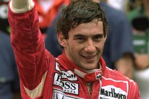 Ayrton Senna gives a thumbs up after he won the 1992 Monaco Formula One Grand Prix. Photo / AP