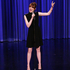 Winning the lip sync battle in epic style on The Tonight Show with Jimmy Fallon, Emma Stone also looked gorgeous in a mini dress with cut-out sides by Gucci. Picture / AP Images