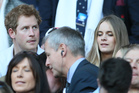Britain's Prince Harry with his girlfriend Cressida Bonas attend the Six Nations Rugby Union match between England and Wales at Twickenham on March, 9 this year. Photo / AP