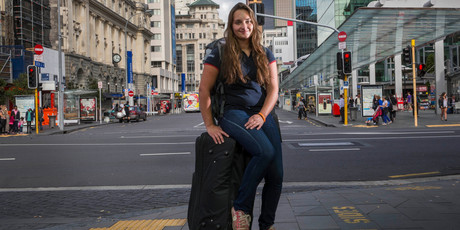 French tourist Eloise Morice says the taxi fare can pay for two nights at a backpacker's. Photo / Peter Meecham