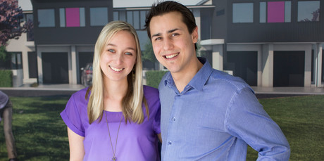 Jessica and Tristan Lomberg had hoped to move into their new home in November. Photo / Greg Bowker