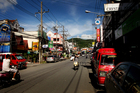 The main street of Karon, Phuket. Photo / NZ Herald / Christine Cornege