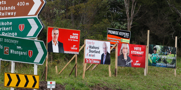 Auckland Transport is proposing new rules on the size and placement of election signs. Photo / File