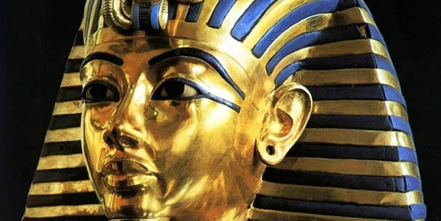 The death mask of King Tutankhamun