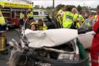 Debbie Bell from Hobsonville was airlifted to hospital in Auckland after a head-on car crash in Warkworth.