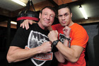 Trainer Kevin Barry with his star pupil Joseph Parker. Photo / George Novak