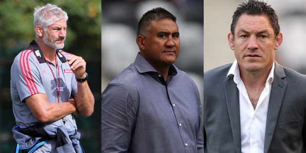 Todd Blackadder, Jamie Joseph and Mark Hammett have all been under scrutiny this season. Photo /Getty Images