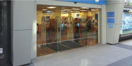 The entrance to Tauranga Library, tweeted by Coldplay