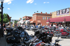 Sturgis' streets are packed with motorbikes during the town's annual rally, which draws more than 400,000 visitors each August. Photo / Creative Commons image by Flickr user Catherine Taylor