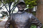 The bronze statue of Possum Bourne is in Pukekohe.