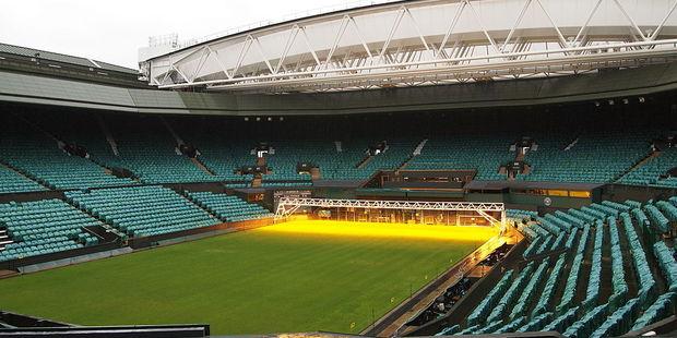 Around half a million tennis fans visit the Wimbledon championships each summer in southwest London. Photo / Wikipedia-Danbu14