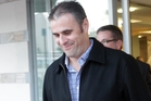 Hawke's Bay police officer Adam Dunnett leaving the Napier District Court yesterday. Photo/Paul Taylor