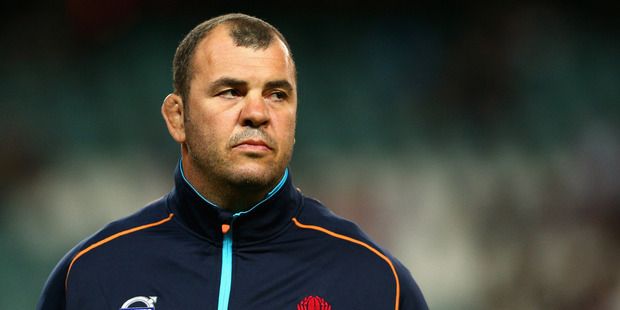 Michael Cheika suspects the Waratahs' daring ball-in-hand style is what the fans want too. Photo / Getty Images