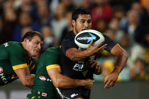 Peta Hiku and the Kiwis couldn't hold on to beat Australia. Photo / Getty Images