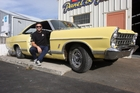 READY TO ROLL: Cruise Martinborough founder and organiser Damien Pivac is readying his 1967 Ford Galaxie 500 as a promotional set of wheels for the inaugural four-day Wairarapa event, for which registrations have opened. PHOTO/LYNDA FERINGA