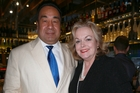 Judith Collins with her husband David Wong Tung, who is director of Oravida. Photo / APN