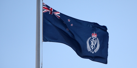 The flag outside Northland police district headquarters in Whangarei was at half mast.