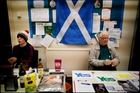 The Yes campaign sells patriotic items and distributes leaflets at meetings around the nation. Photo / Angela Catlin