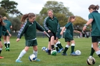 Haley Gleeson takes a St Cuthbert's training session. Photo / Doug Sherring