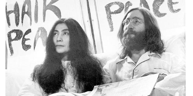 John Lennon, with Yoko Ono.