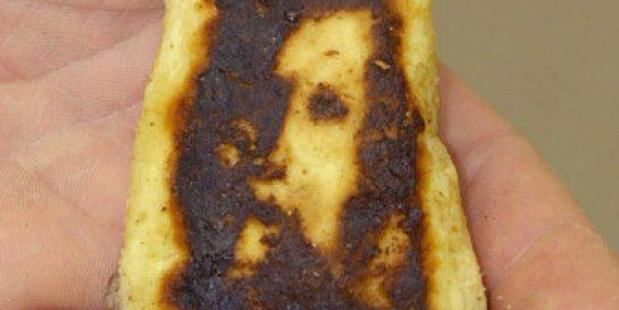Seeing Jesus on your toast? It's common for people to see non-existent features because human brains are uniquely wired to recognise faces, scientists say. Photo / Twitter