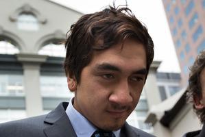 Korotangi Paki, son of the Maori King Tuheitia, leaves the Auckland District Court. Photo / Brett Phibbs