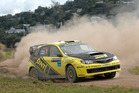 Richard Mason is the driver to catch in round two of the New Zealand Rally Championship this weekend. Pictures / Euan Cameron