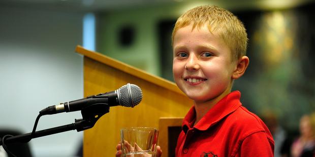 Eight-year-old CJ Greenway.