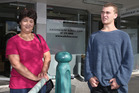Maria McFarland and her son Taylor, 16, are unhappy with the total ban.Photo/John Borren