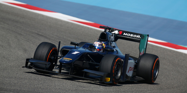 Tyre problems scuttled Mitch Evans in Bahrain, but he is optimistic about his chances in Spain.Pictures / GP2 Media