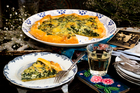 Freeform ricotta and spinach tart. Photo / Babiche Martens.