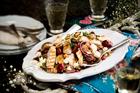 Quinoa, chicken, guava and feta salad. Photo / Babiche Martens.