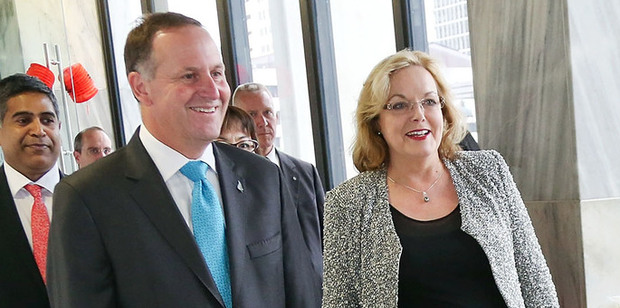 Prime Minister John Key with Judith Collins. Photo / Getty Images