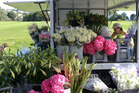 Carole Bowden's flower van in Remuera. Photo / Greta Kenyon.