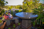 Building and installing a bird bath with electric pump.Photo / Jason Dorday