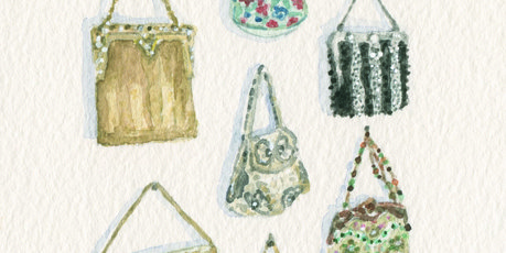 Vintage bag collection by Clare Grove.