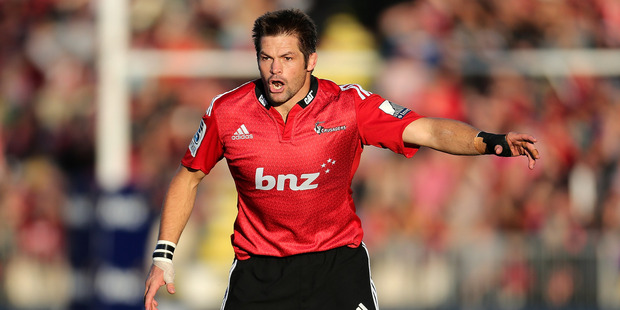 Richie McCaw made 20 tackles in the game against the Brumbies. Photo / Getty Images