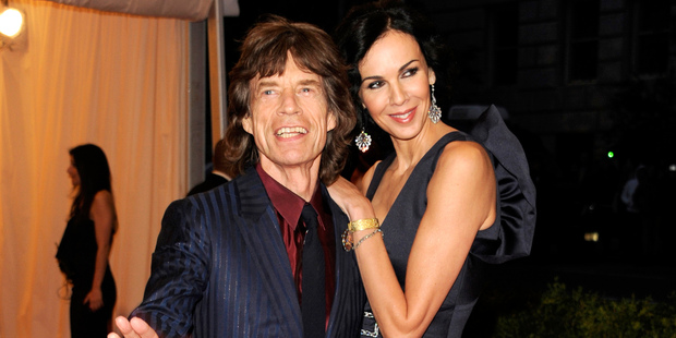 Mick Jagger, left, and L'Wren Scott at the Metropolitan Museum of Art Costume Institute gala benefit in 2012. Photo / AP
