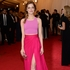 Emma Stone looks like a babe in this pink ensemble by Thakoon. Picture / AP Images