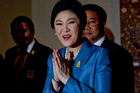 Thai Prime minister Yingluck Shinawatra arrives at the Constitutional Court in Bangkok, Thailand. Photo / AP