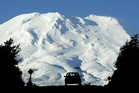 Skiers head home from Turoa skifield after a day on the slopes of Mt Ruapehu. Photo / Alan Gibson