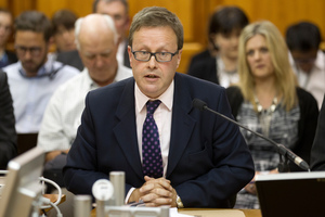 GCSB Director Ian Fletcher during his appearance at the Intelligence and Security Committee at Parliament iN December. Photo /  Mark Mitchell